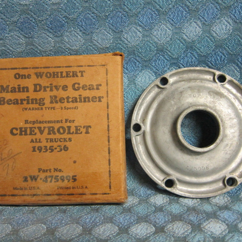 1935 36 Chevrolet Master & Truck NORS 3 Spd Main Drive Gear Bearing Retainer
