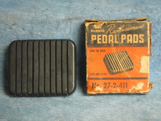 1953 54 Chevrolet Pass NORS Brake or Clutch Pedal Pad