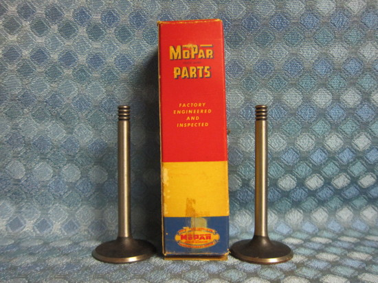 1956-57 Plymouth V8 NOS Mopar Exhaust Valves Box of 2 # 1618676