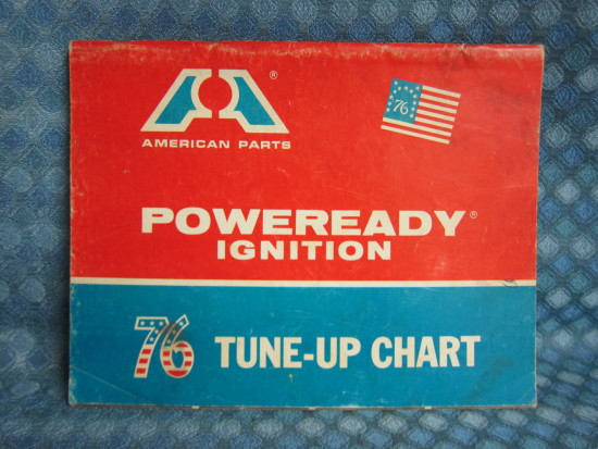 1964-76 Big A Ignition Original Tune Up Chart GM Ford Mopar AMC 66 68 70 72 74