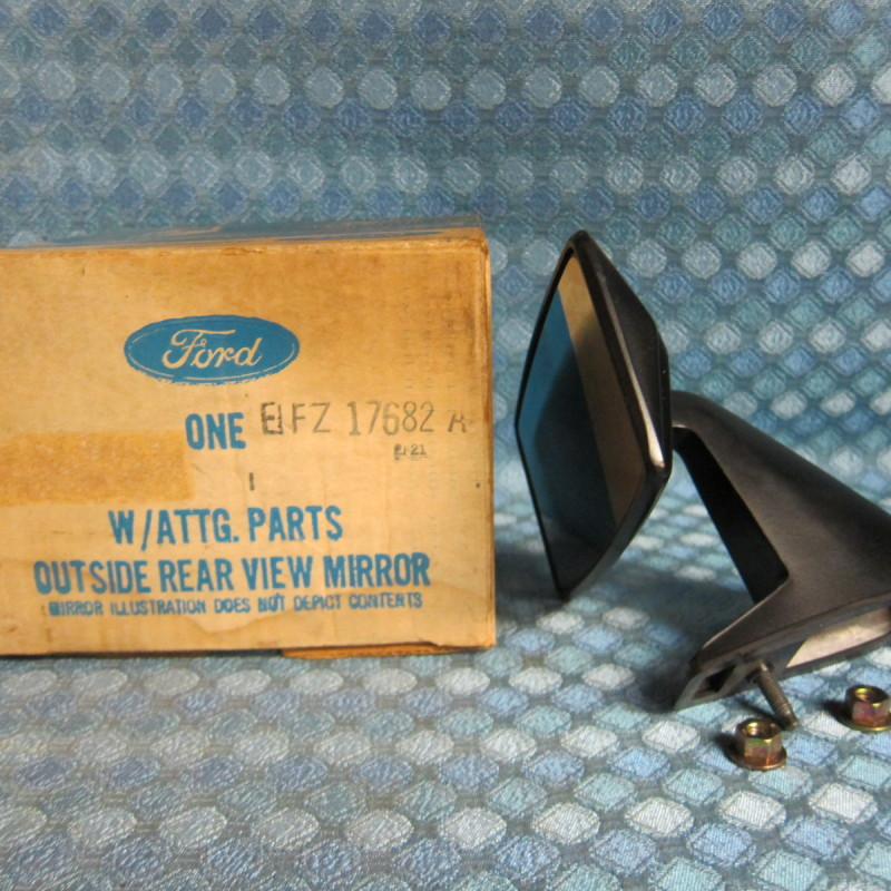 1981 82 83 84 85 Escort & Lynx NOS Outside Rear View Mirror Black # E1FZ-17682-A