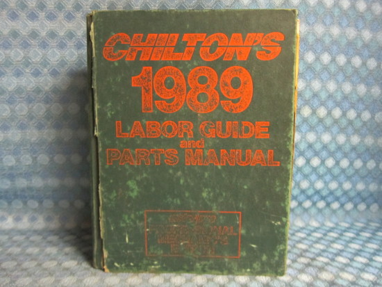 1985-1989 Chiltons Original Labor Guide & Parts Manual GM Ford Chrysler AMC
