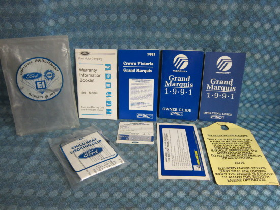 1991 Mercury Marquis Original Owners Manual Glove Box Package