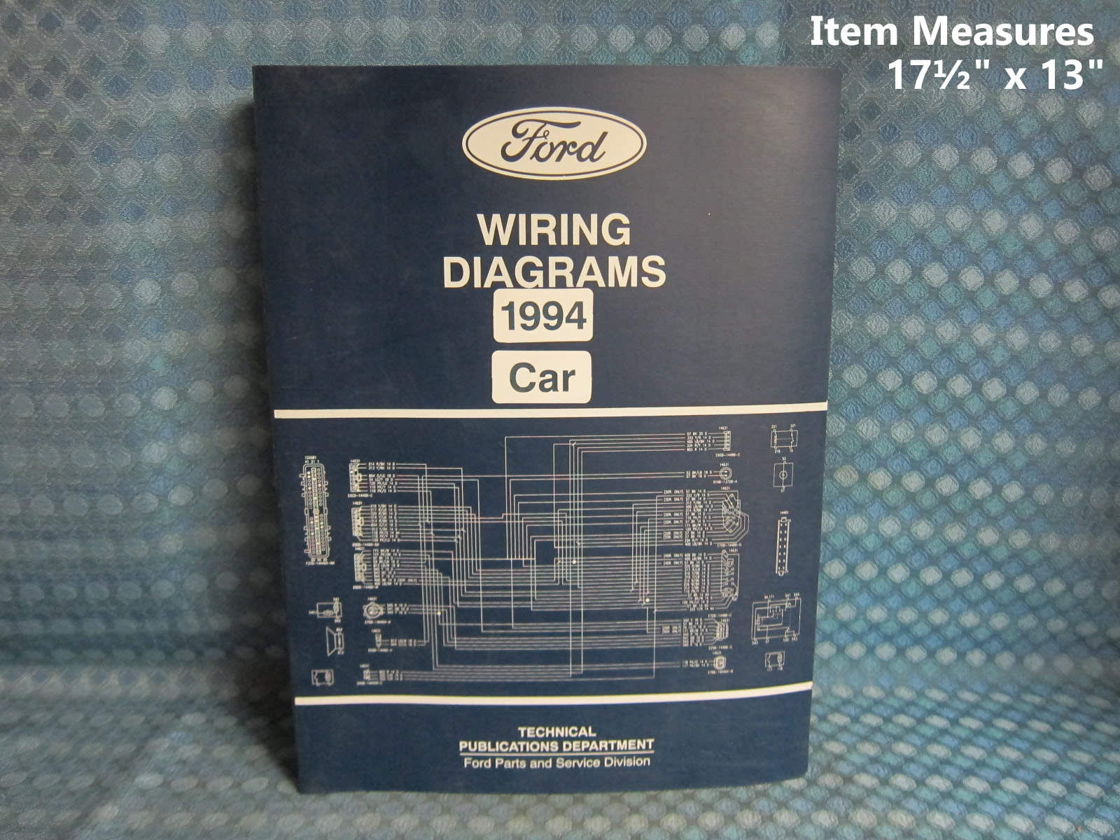 1994 Ford Lincoln Mercury Car Original Wiring Diagrams Manual 1956 Diagram Mustang Cougar Nos Texas Parts Llc Antique Auto