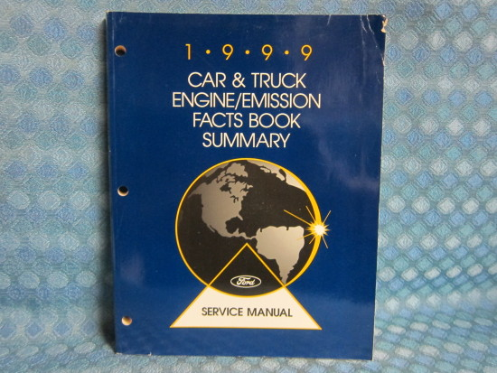 1999 Ford Lincoln Mercury Car & Truck OEM Original Engine Emission Facts Book