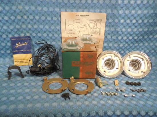 1960 Chevrolet Corvair NOS Guide Back Up Lamp Light Kit # 985062 SEE AD