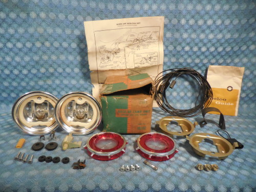 1962 Chevrolet Corvair NOS Guide Back Up Lamp Light Kit # 985183 SEE AD