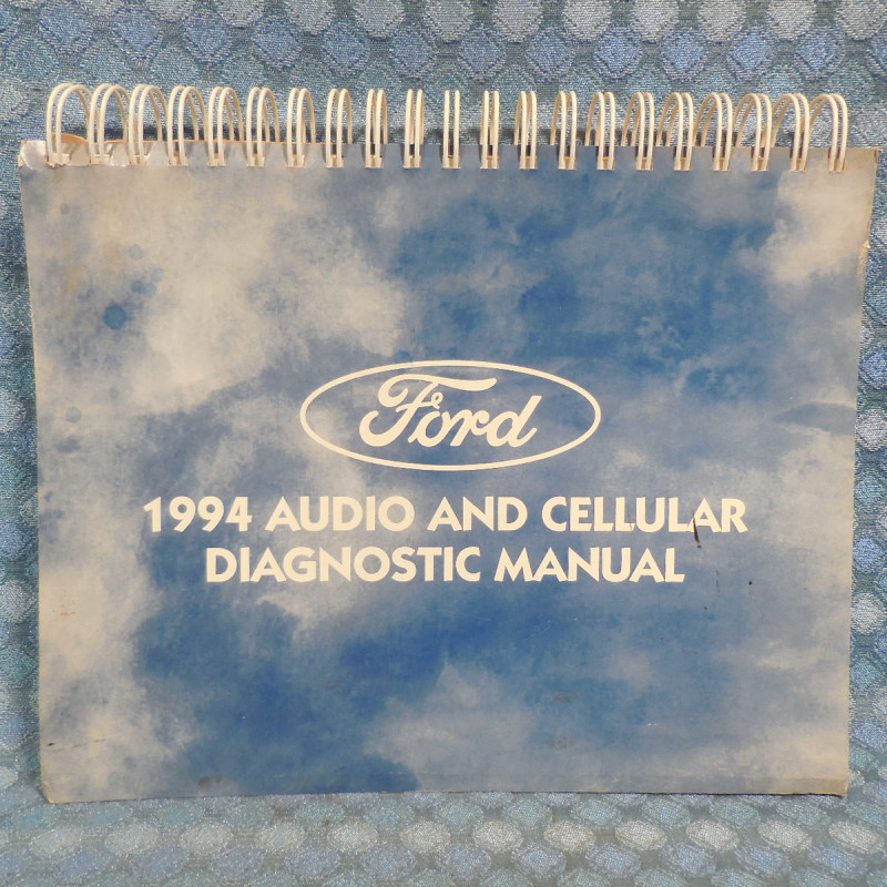 1994 Ford Lincoln Mercury OEM Original Audio & Cellular Diagnostic Manual