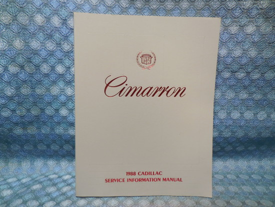 1988 Cadillac Cimarron Original OEM Shop Service Information Manual