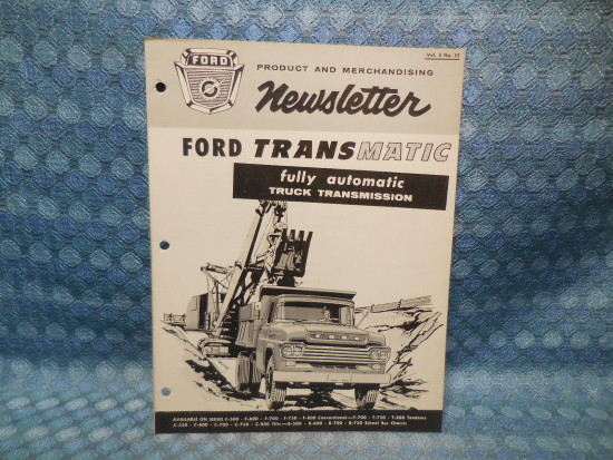 1959 Ford Truck Medium Duty Transmatic Drive Original Dealer/Salesman Newsletter