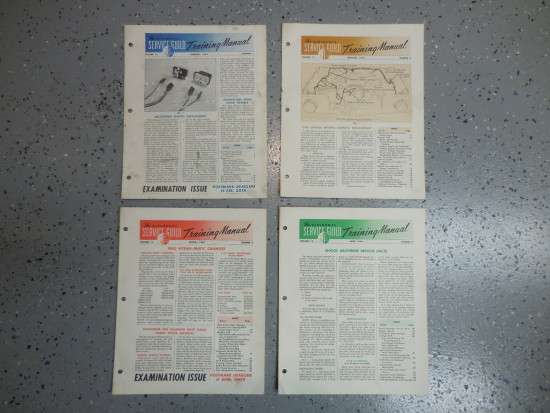 1963 Oldsmobile Original Service Guild Training Manuals Lot of 4 Pieces