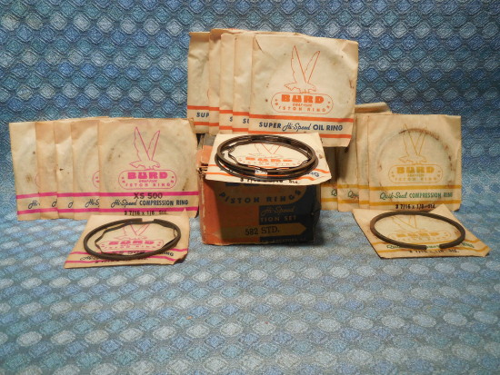 1937 1938 Pontiac 6 Cyl NORS Piston Ring Set