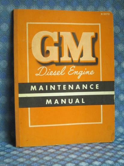 1955 GMC Truck Series 71 Diesel Engine Original Maintenance Manual