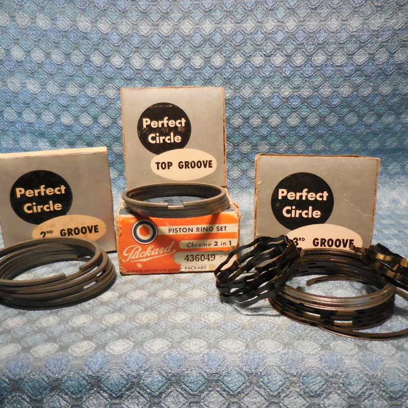 Late 1947 1948-1949 Packard 6 Cyl NOS Piston Ring Set Standard (SEE DETAILED AD)