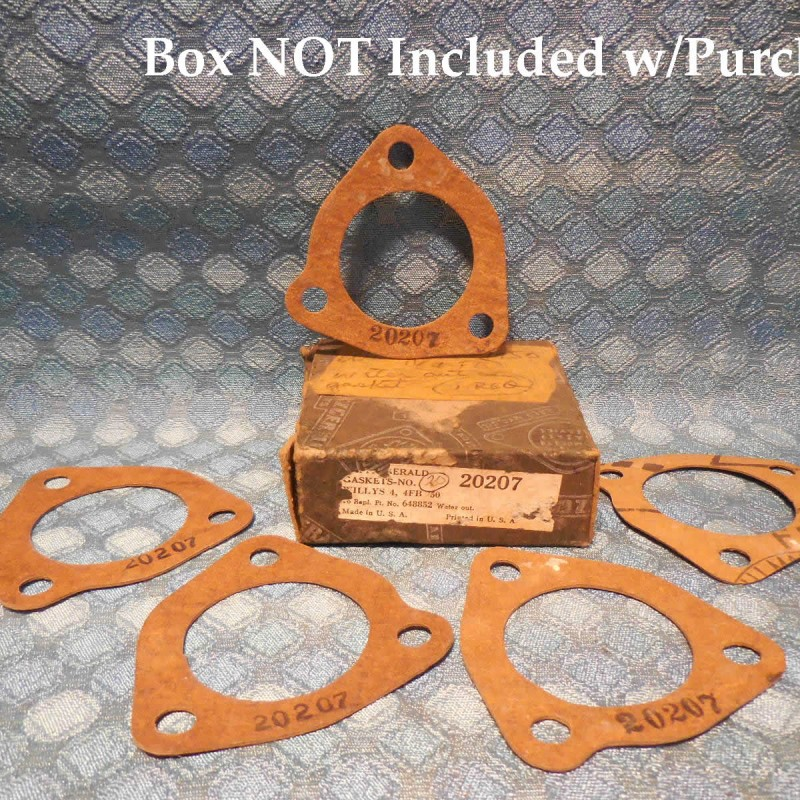1950-1971 Willys Jeep 4 Cyl NORS Lot of 5 Water Outlet Gaskets 53 55 57 59 61 65