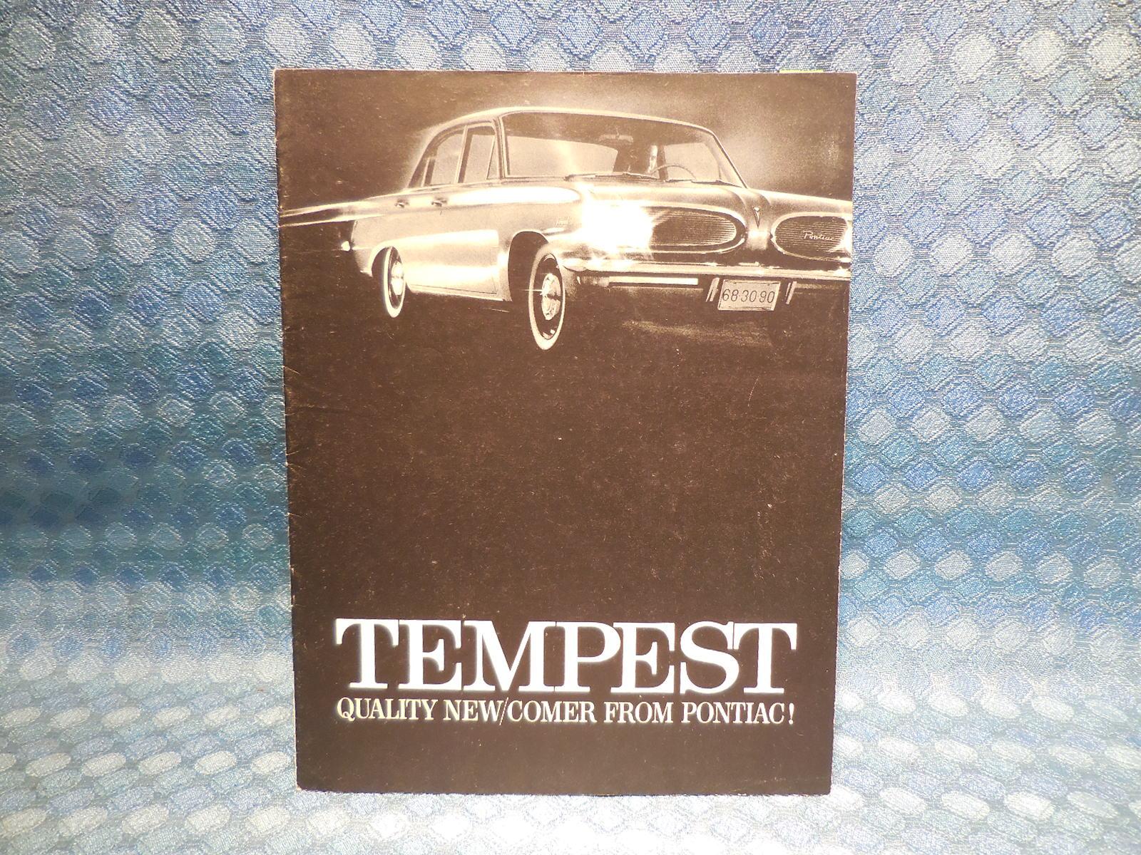 1961 Pontiac Tempest Original Sales Brochure Nos Texas Parts Llc 48 Ford Sedan Wiring Diagram Antique Auto