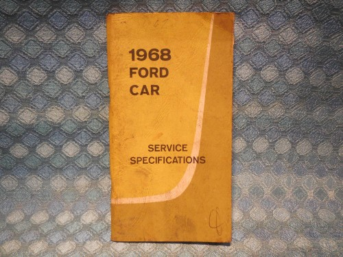 1968 Ford Lincoln Mercury Original OEM Service Specifications Book