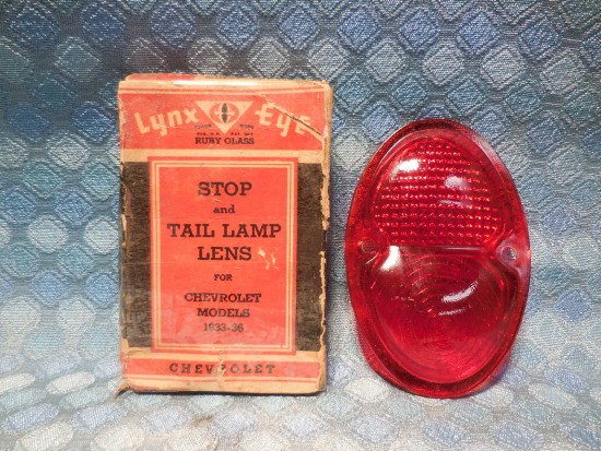 1933 - 1936 Chevrolet NORS Glass Tail / Stop Light Lens 1934 1935