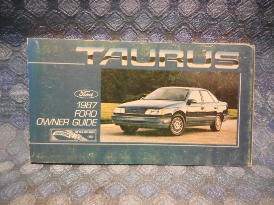 1987 Ford Taurus Original Owners Manual / Guide