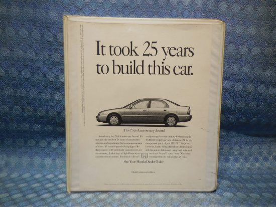 1996 Honda Dealer / Salesman Original Options Guide w/ Passport Facts Book