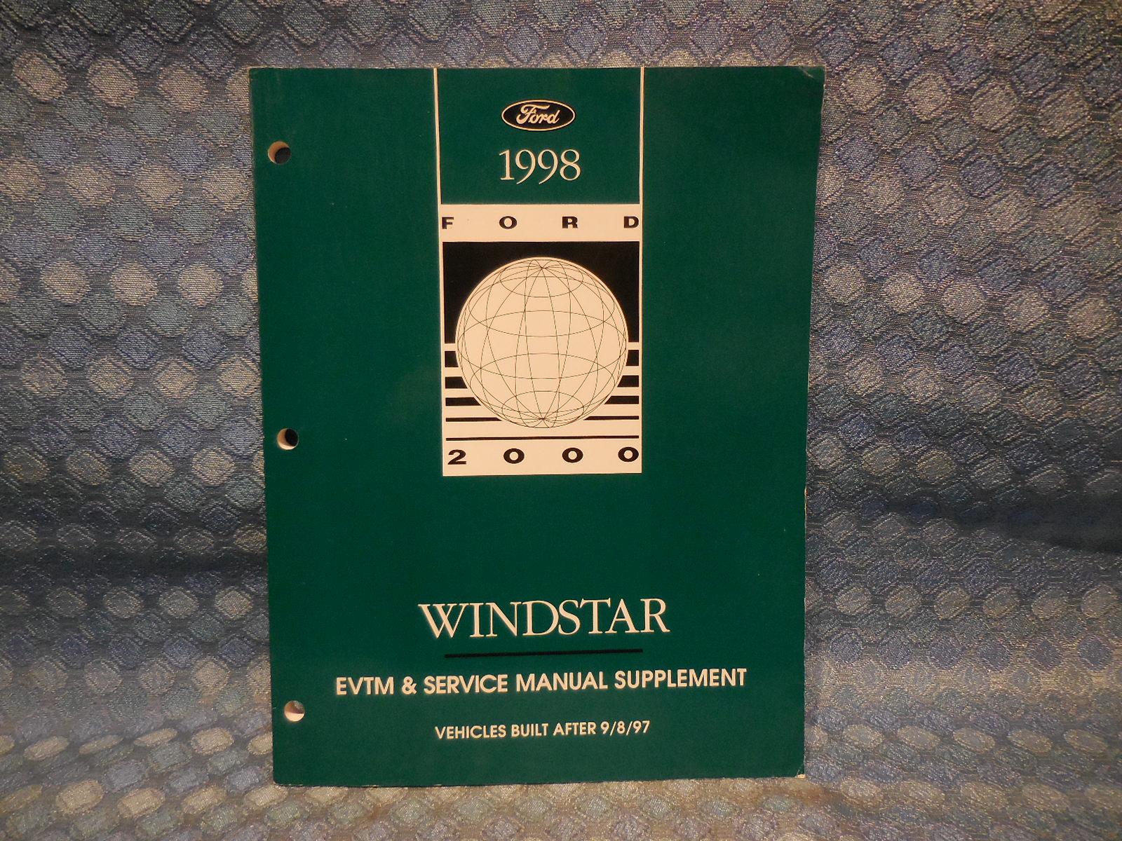 1998 ford windstar oem evtm service manual supplement. Black Bedroom Furniture Sets. Home Design Ideas