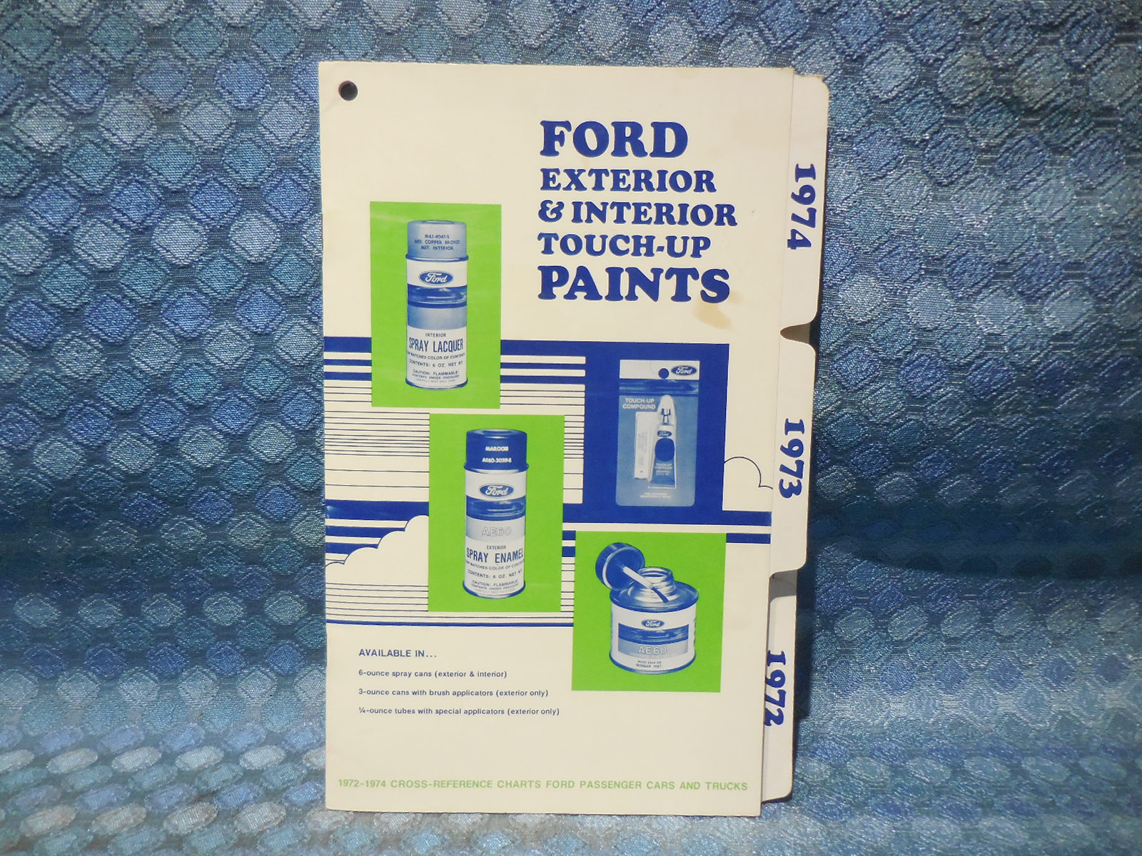 1972 1973 1974 ford lincoln mercury oem interior exterior touch up paint chart nos texas. Black Bedroom Furniture Sets. Home Design Ideas