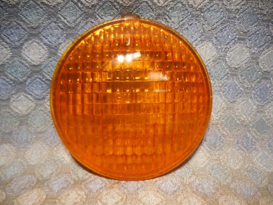 1950-1953 Chevrolet Truck NOS Guide Glass Amber Turn Signal Lens # 5939210