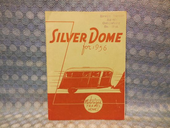 1936 Silver Dome Travel Trailer Original Sales Book - Complete Line