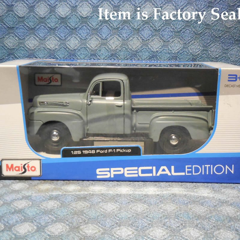 1948 Ford F-1 Pickup New Maisto 1:25 Scale Model in Gray
