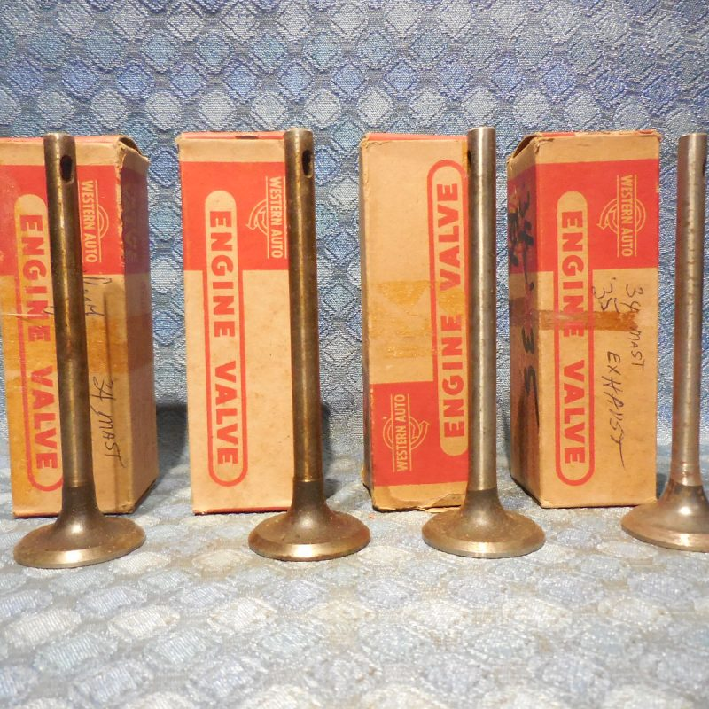1934 1935 Chevrolet Set of 4 NORS Exhaust Valves # 837317 Chevy (SEE AD)