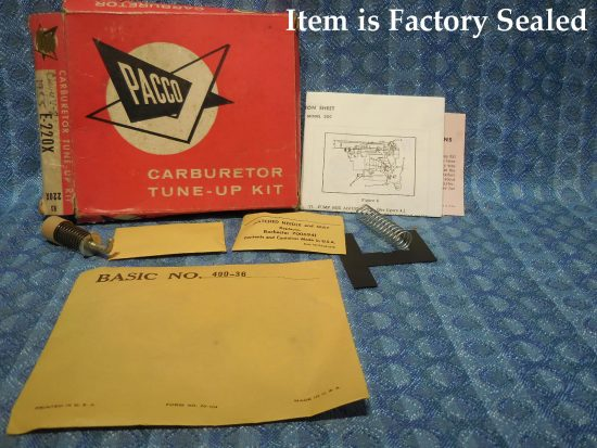 1955 Chevrolet V8 NORS Carburetor Tune-up Kit (SEE DETAILED AD)