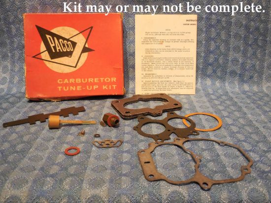 1955 Plymouth V8 NORS Carburetor Tune-up Kit (SEE DETAILED AD)