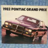 1982 Pontiac Grand Prix Original Sales Brochure Inc. Brougham & LJ