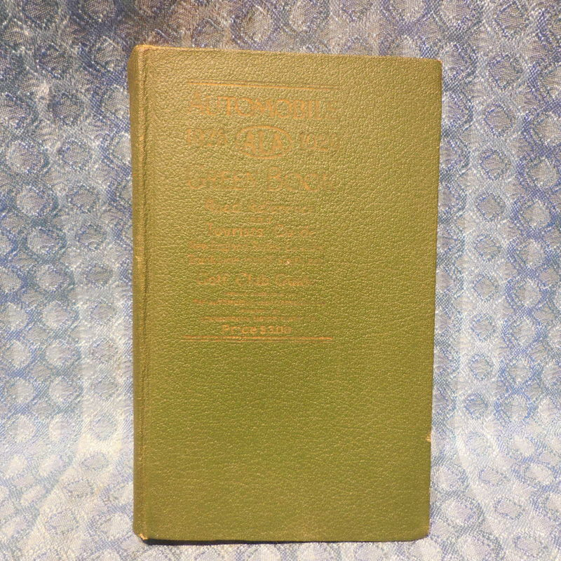 1928-1929 ALA Green Book Road Reference Tourist & Golf Club Guide North East Ed.