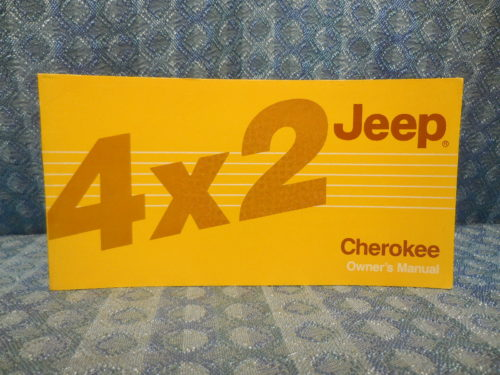 1986 AMC Jeep Cherokee 4X2 NOS Owners Manual