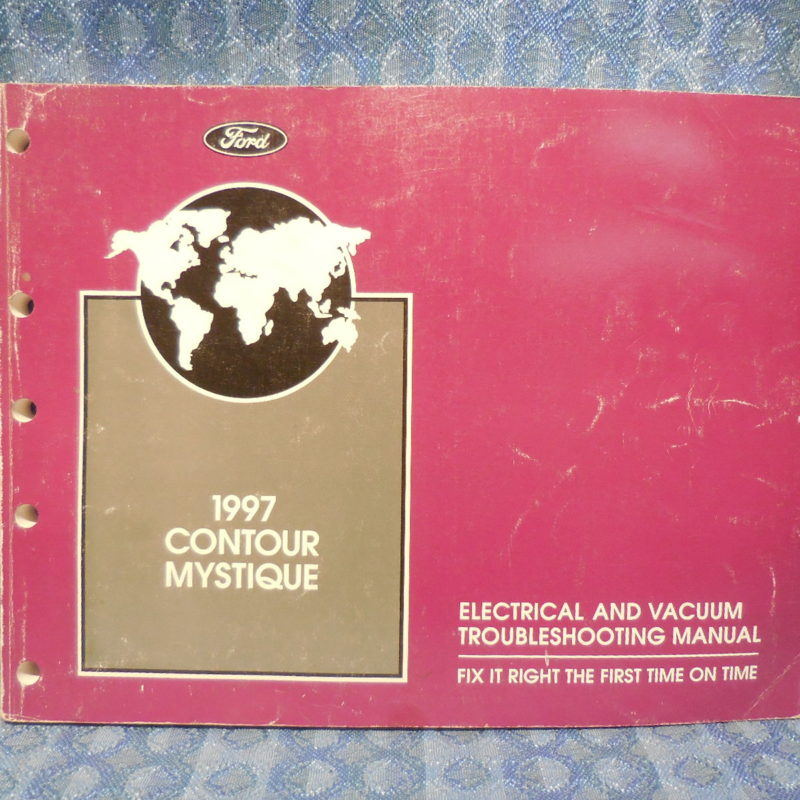 1997 Ford Contour Mercury Mystique OEM Electrical Vacuum Troubleshooting Manual