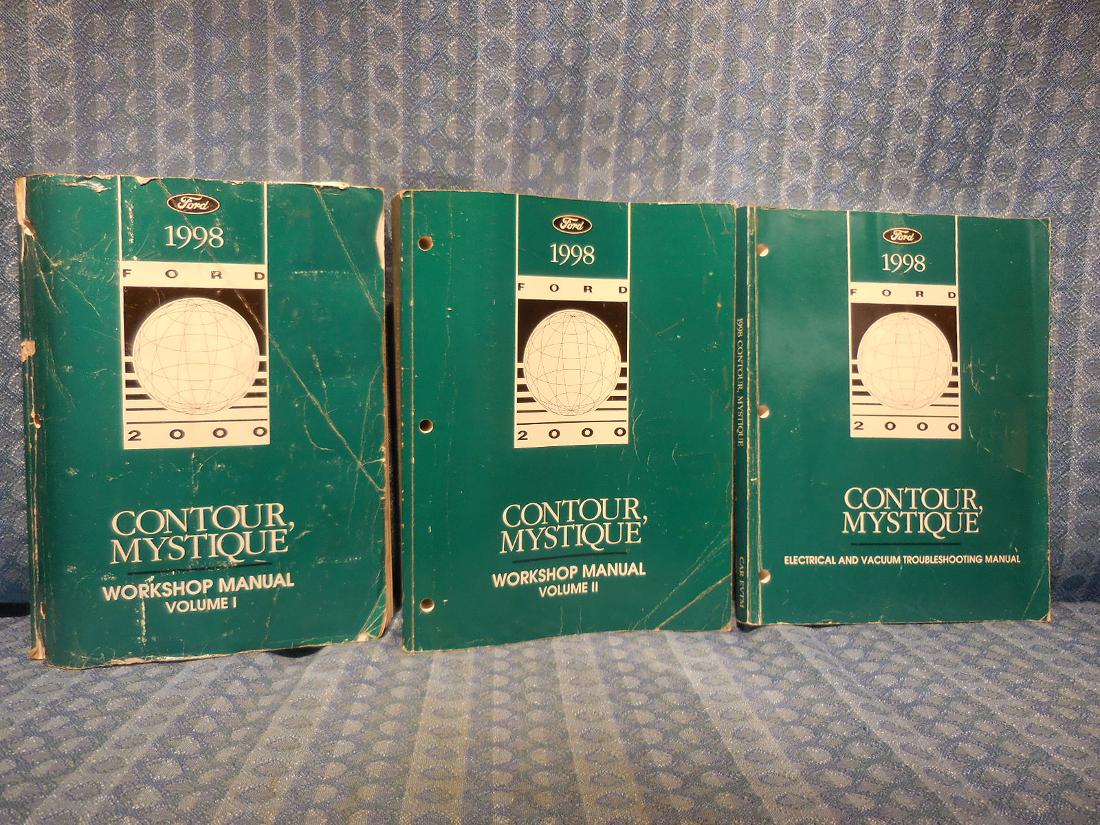 1998 Ford Contour Mercury Mystique OEM Original Workshop Manual 3 Volume  Set - NOS Texas Parts, LLC - Antique Auto Parts