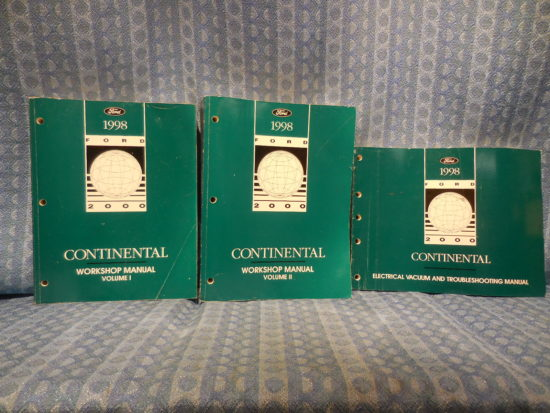1998 Lincoln Continental OEM Original Service / Workshop Manual 3 Volume Set