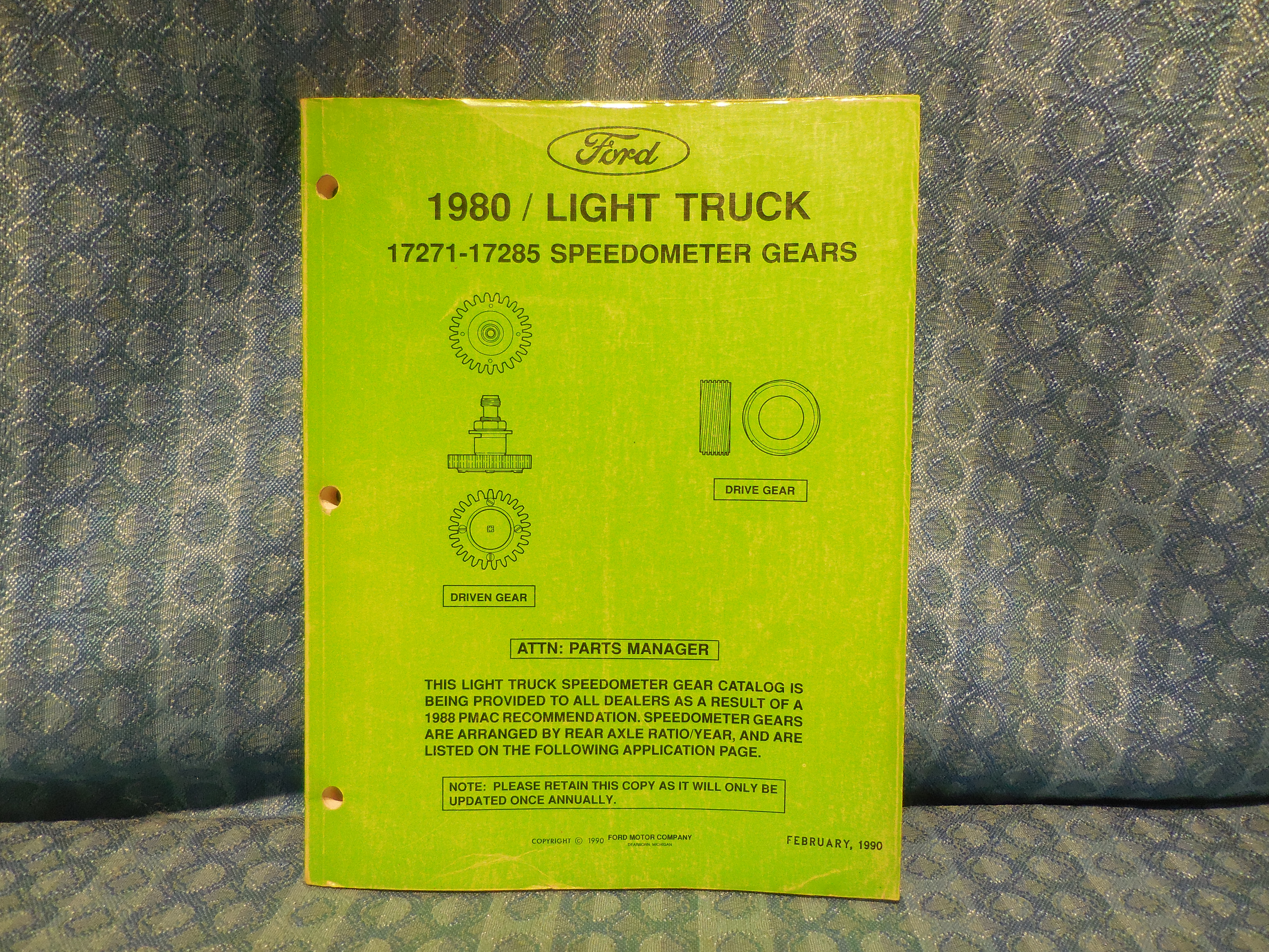 1980-1990 Ford Light Duty Truck Original Speedometer Gears Catalog 82 84 86  88